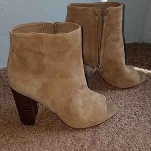 Cute Peep-toe booties